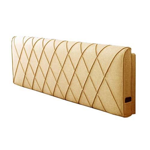 Bett weiche Rückenlehne, Doppelkopfkissen aus massivem Holz Bettdecke Unterstützung Schlafzimmer ruhen Taille Lesekissen Multifunktions waschbar 5 Farben, 5 Größen (Farbe: gelb, Größe: 180 * -