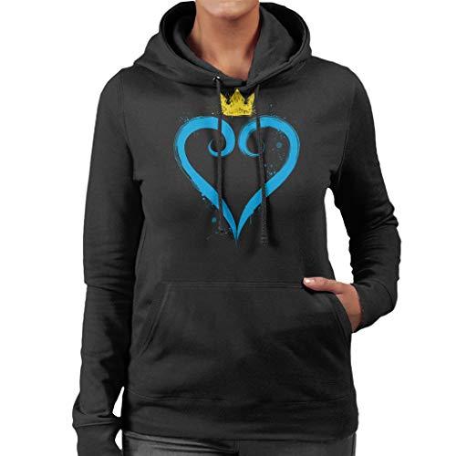 Cloud City 7 Kingdom Hearts Crown Heart Women's Hooded Sweatshirt Cloud Strife Kingdom Hearts