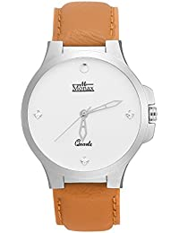 Monax White Dial Analog Watch For Men & Boys - MM103