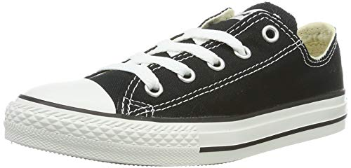 Converse Unisex-Kinder C. Taylor All Star Youth OX 3J2 Low-Top, Schwarz (Black 3j235c), 31 EU (Jungen Schuhe Converse)