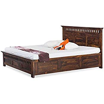 30b571aeec1 Saraf Furniture King Size Solid Wood Bed With Box Storage (Sheesham Wood -  Dark Brown)