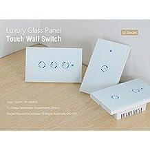 Mengonee Sonoff T1 US 1/2/3 Gang Smart Touch Luce Interruttore Intelligente WiFi RF Timing Countdown Interruttore della Lampada da Parete di Controllo remoto