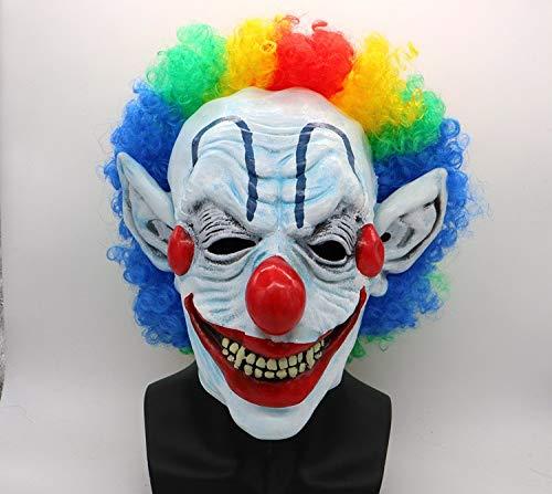 Frmarche Halloween Clown-Maske lustig Geister Horror Dekoration Halloween Cosplay Gesicht