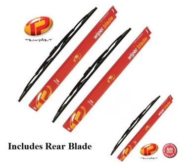 Jeep Cherokee Front & Rear Wiper Blades (1997 - 2001) Trupart TP45/45/33