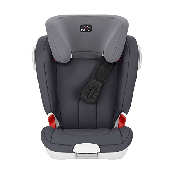 Britax Römer car seat Kidfix XP (SICT) Group 2/3. Britax Römer Front impact pad - XP, storm gray Shockproof side protection - MTS Codes High back for shock absorbing side protection and correct strap guide 9