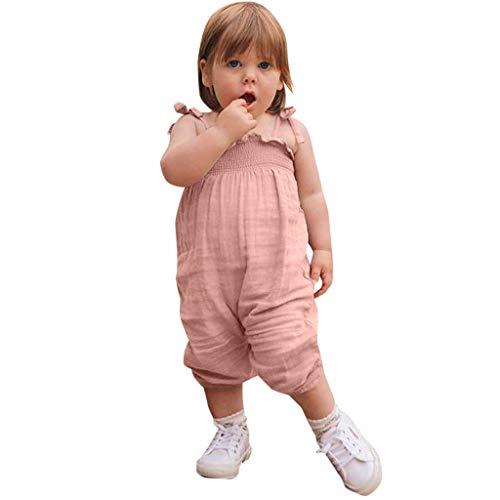 Generic JERFER Jumpsuit Ärmelloser Jumpsuit mit festem Print für Kleinkinder