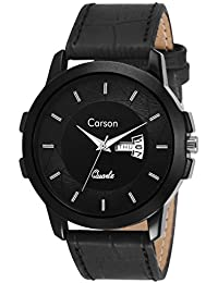 Carson Analogue Black Dial Men's Watch - Cr7114