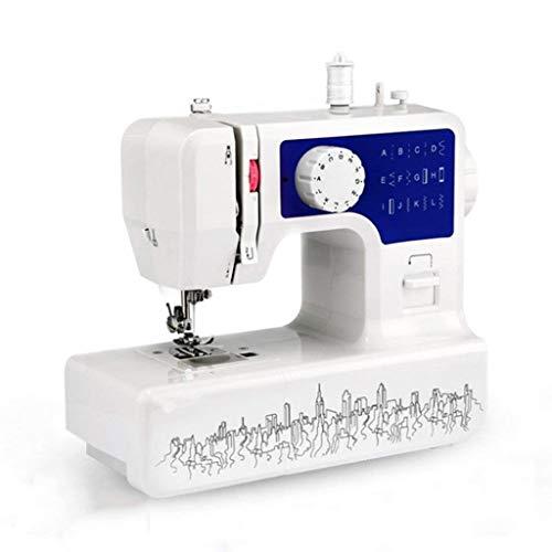 DYW-Sewing machine Máquina de Coser portátil Máquinas de Coser Máquina de Coser eléctrica multifunción Borde de Costura Botón de Bloqueo Grueso Ojo 12 Pines Ropa Manualidades