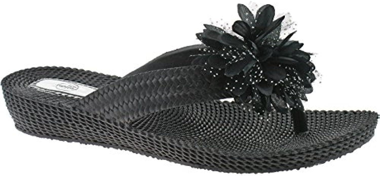Ladies Casual Summer Sandals FLIP Flops Size UK 3-8 3-8 3-8 Various Colours LP3028-Black-UK 3 (EU 36) b6a049