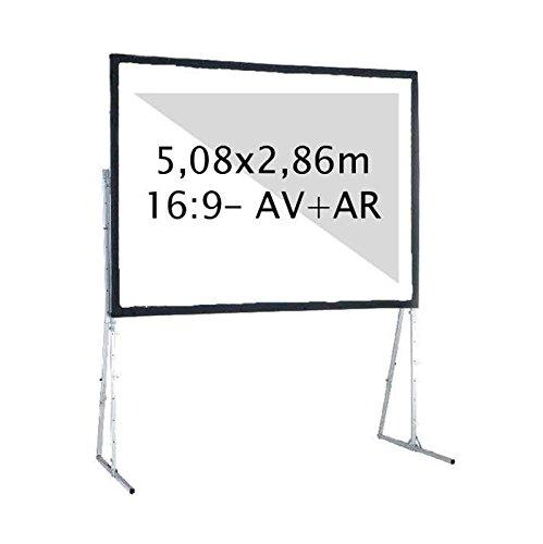 Kimex 046–3019K Projektionsleinwand, Koffer 5,08x 2,86m, Format 16/9, Projektion vorne + hinten