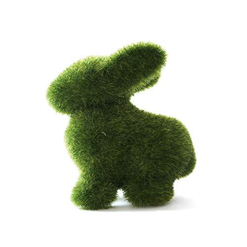 nchen Gras Tier Kaninchen Osterhase Handwerk Geschenk Home Office Ornament Dekoration, Wie abgebildet, 1 Stpck ()