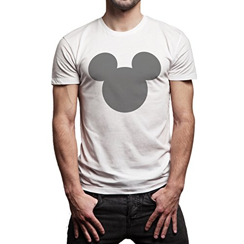 Mickey Mouse Disney Dope Icon Swag Colour Grey Siluet Herren T-Shirt Weiß