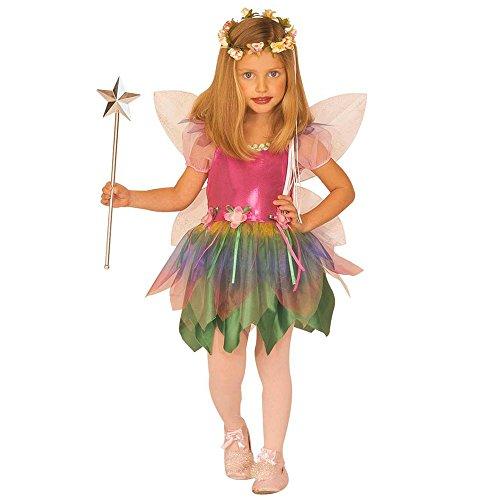 Costume vestito abito travestimento carnevale bambina fatina dell'arcobaleno