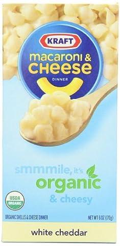 KRAFT Macaroni & Käse Mahlzeit Bio Weisser Cheddar, 170 Gramm Schachtel (Paket mit 12) (Weißer Cheddar)