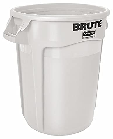Rubbermaid Commercial Brute Round Container 121.1 L - White