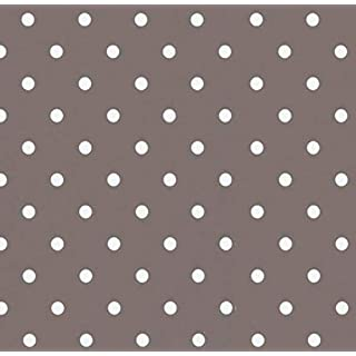 Klebefolie - Möbelfolie Taupe graubraun Punkte - Dots 0,45 m x 2 m Selbstklebende Folie Dots - Dekorfolie Selbstklebefolie