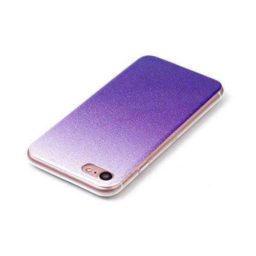 TPU Coque iPhone 7 (4.7 pouces),Housse Slim Coque Transparent Etui, Case Souple TPU Bumper Protective Cover Skin, Crystal Clear Couverture Arrière Etui de Protection Case Anti Rayure Anti Choc pour Ap 2