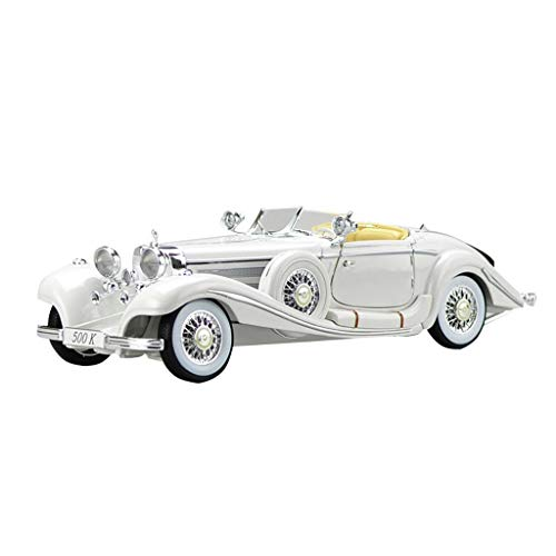 LIUFS-Legierung Auto Legierungs-Auto-Modell-Simulations-Design Mercedes-Benz 500K Classic Car Home Collection Dekoration ( Farbe : Weiß )