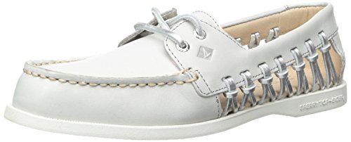 Sperry Top-Sider A/O Haven, Chaussures Bateau Femme, Gris (Light Grey), 40.5 EU