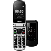 YINGTAI T09 Telefono Cellulare Conchiglia con SOS per Anziani Tasti Grandi