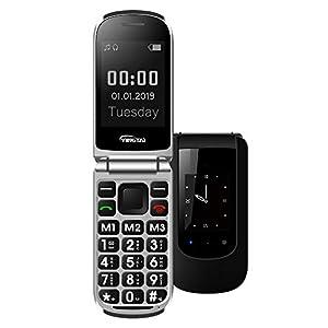 YINGT T09 Telefono Cellulare Conchiglia con SOS per Anziani Tasti Grandi