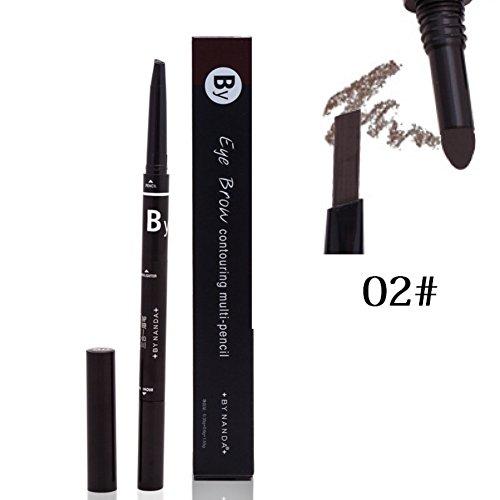 Symeas 3 en 1 Eye Brows Set Crayon à sourcils Waterproof + Poudre + Pinceau Mascara Pigment Black Brown Kit de sourcils