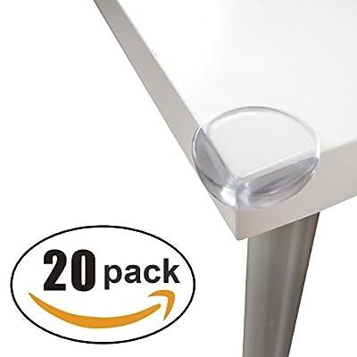 20-Pack seguridad claro protectores de esquina | mejor baby-proofing Home muebles esquina cojín guardias | antigolpes y mantener a los niños seguro de lesiones