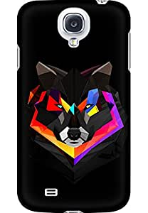 AMEZ designer printed 3d premium high quality back case cover for Samsung Galaxy S4 (abstract wolf)