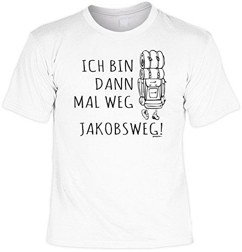 Pilger Sprüche T-Shirt Pilgerweg Wandern : Ich bin dann mal weg Jakobsweg! --Tshirt Wandern Pilgerurlaub Urlaub Pilgern Gr: XXL