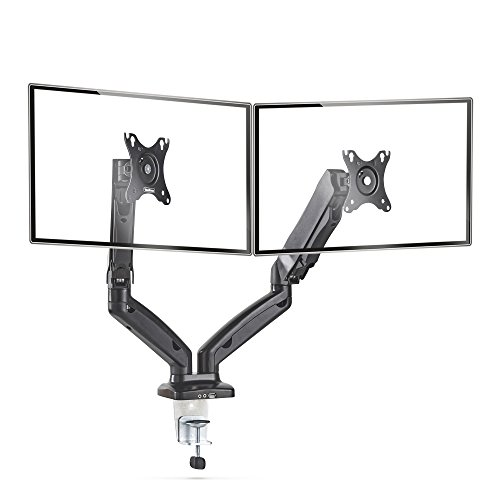 """VonHaus Full Motion Dual Monitor Mount for 13-27"""" Screens 