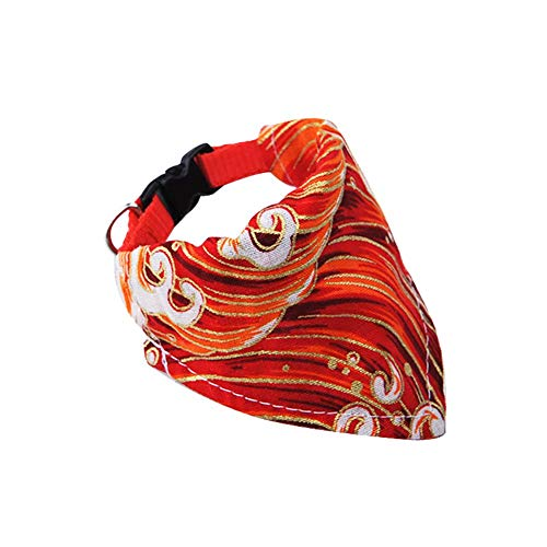 BaoJu Verstellbarer Gurt Bandana für Hunde Hund Bandana Plaid Lätzchen Schal Kragen für kleine Hunde Welpen Pflege Zubehör-Red XS (Size : Red XL)