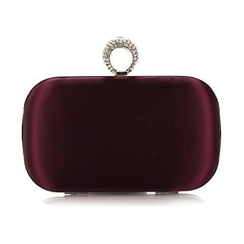 Eysee, Poschette giorno donna viola Silver 16cm*9cm*5.5cm(6.3L*3.5H*2.2W inches) Purple