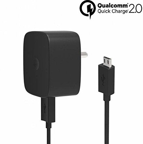 Motorola 1M TurboPower A15 Wall Adapter With Micro USB Data Sync & Charging Cable for Android Devices (SPN5929A_Black)