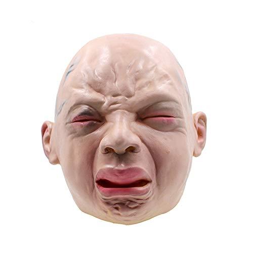 Halloween Latex Maske Lustige Weinen Baby Volles Gesicht Maske Karneval Cosplay Neuheit Masquerade Kostüm Partei Requisiten Rolle Spiel Spielzeug Für Erwachsene