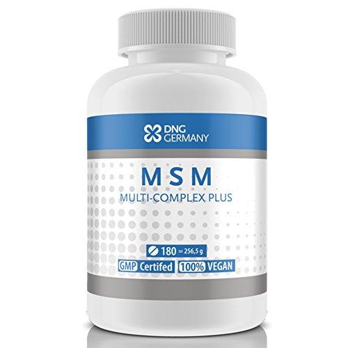 MSM MULTI COMPLEX PLUS - 180 - 500 vegane Tabletten Vorrats-Packung | Prolin, Lysin, Rotalge - Für Gelenke & Haut Haare Nägel (180 Tabletten)