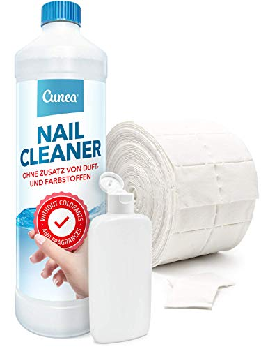 Nail-Cleaner Nagelentfetter mit Zelletten - Nagelstudio Qualität mit Dosierflasche 750ml + 500 Stk. -