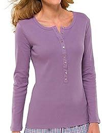 mehrere Farben 142624 o Schiesser Mix /& Relax Damen T-Shirt Kurzarm oder Spaghettitop 142626
