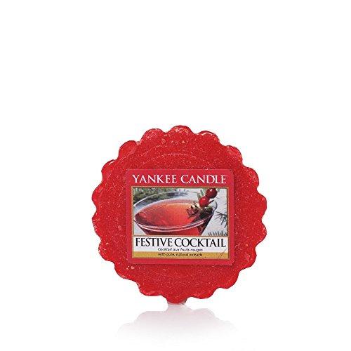 Yankee Candle 1521062E Cocktail à Fruits tartelette, Cire, Rouge, 6 x 5,7 x 2 cm