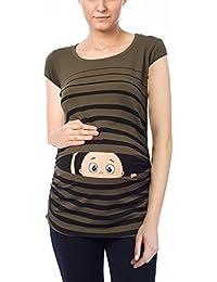 Witzige süße Umstandsmode T-Shirt mit Motiv Schwangerschaft Geschenk -  Kurzarm 690f5a206b