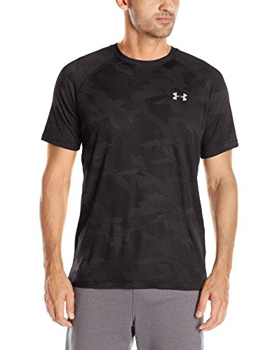 Under Armour Herren Fitness - T-shirts und Tanks Ua Tech Jacquard Ss, Blk, XL, 1285087 (Tech Mesh Tank)