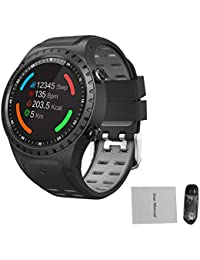 iBasteFR Montre numérique pour Homme Montre Intelligente Bluetooth SMA-M1 GPS Sports de Plein air Montre Intelligente Montre de Sport Montre Bluetooth Appel Mode Multisports Compass Altitude