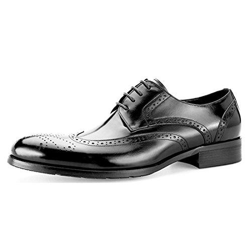 HENGJIA Herren Freizeitliche Arbeitsschuhe Klassischer Schnürhalbschuh Oxford-Schuh 570201 Weinrot