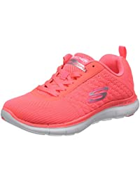 Skechers Damen Flex Appeal 2.0-Break Free Outdoor Running Trainers mit Schnürung und gepolsterter Einlegesohle aus Air Cooled Memory Foam