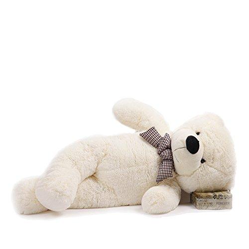 Dis, orsacchiotto di peluche gigante, 1,2 m, colore: bianco