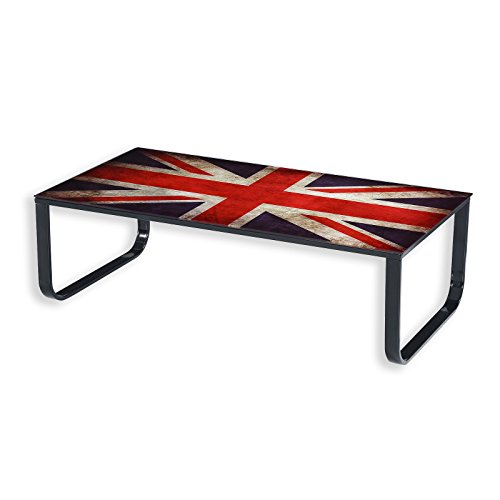 ROLLER Couchtisch - Union Jack Flag - Sicherheitsglas - 105 cm - 1015212600