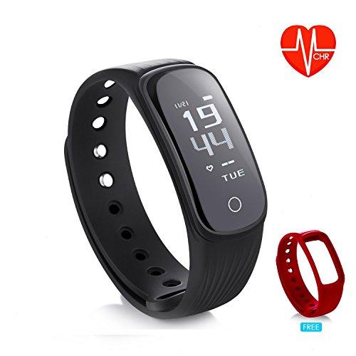 DAWO Fitness Tracker, Fitness Armbanduhr Wasserdicht Fitness Tracker HR mit Herzfrequenz/Schlafanalyse/Kalorienzähler/Aktivitätstracker Schrittzähler - Smart Fitness Armband Android IOS