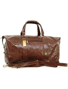 Reisetasche/Freizeittasche/Sporttaschevon Leder von Ashwood – GRÖßE: B: 53 H: 35 T: 28 cm