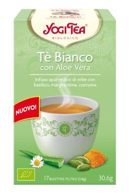 YOGI TEA - Té Blanco con Aloe Vera - Reequilibrante, Armonioso y Agradable para una Regeneración Sensible - 17 filtros
