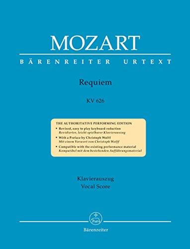 Mozart Requiem  KV 626 - Vocal Score par Mozart. W. A