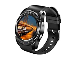Smart Watch,Bluetooth Smartwatch Touch Screen Wrist Watch with Camera/SIM Card Slot,Waterproof Smart Watch Sports Fitness Tracker Compatible with Android iOS Phones Samsung Huawei for Kids Women Men